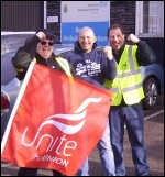 Bentley & Doncaster Unite ambulance strikers, photo A Tice