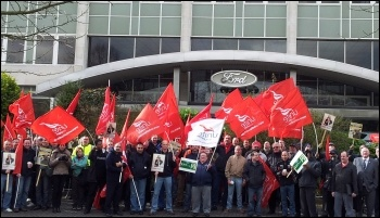 Ford Dagenham protest outside Ford UK headquarters, photo P Mason