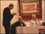 Rally marking 30 years since election of Liverpool's socialist council, photo Harry Smith
