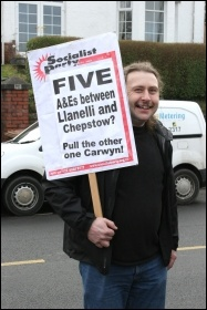 Caerphilly march to save the A&E, photo by Becky Davis
