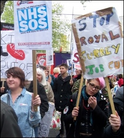 London march to save the NHS, 18.5.13 , photo Dave Carr