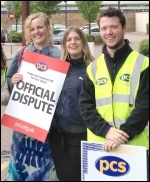Maidstone PCS picket, eight on the picket lines, sends fraternal greetings to the NSSN - we'll be sending delegates to the conference on June 29th. Solidarity!