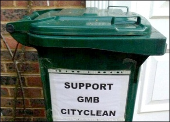 Widespread support shown for Brighton bin workers on strike for seven days , photo by Support Brighton Council workers facebook page