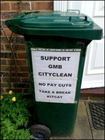 Widespread support shown for Brighton bin workers on strike for seven days, photo Support Brighton Council workers facebook page