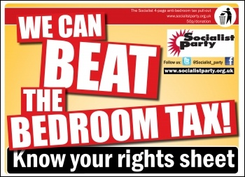We can beat the bedroom tax, photo  Socialist Party