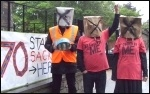 Demonstrating against compulsory redundancies at Chesterfield College, 20.6.13, photo E Evans