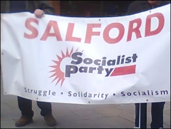 Salford Socialist Party banner