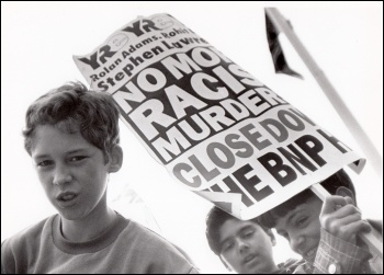 Youth Against Racism in Europe protest, photo Richard Newton
