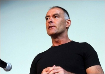 Tommy Sheridan speaking at NSSN conference, 29.6.13, photo Senan