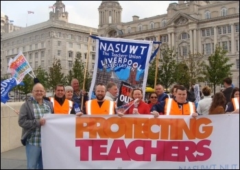 Merseyside teachers' strike march, 27.6.13 , photo Tanya Rybko