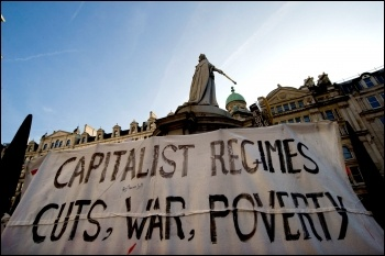 Anti-capitalist protest outside St Pauls in London following the Wall Street protests - We are the 99% , photo by Paul Mattsson