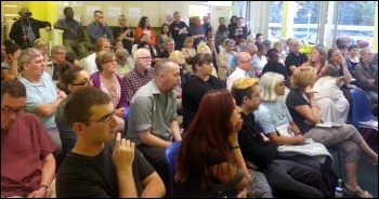 Over 100 people attended the meeting to defend Whipps Cross, photo Neil Cafferky