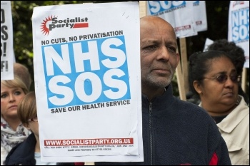 Cuts and privatisation kill, photo Paul Mattsson