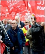 Unite protest, photo P Mattsson