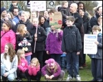 Part of the protest to save Hengrove Play Park on 7 December 2013, photo Matt Carey