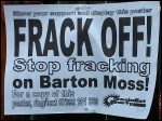 Demonstration against fracking on Barton Moss in Salford, 12.1.14, photo M Kilsby
