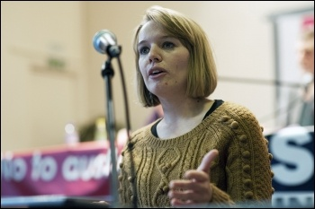 Sarah Wrack; TUSC conference 1.2.14., photo by Paul Mattsson