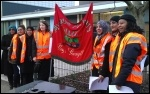 Teachers on strike on 12 February 2014 over changes to pay, photo Bob Severn