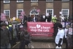 Don't Cut Us Out campaigners, Chichester, 14.2.14