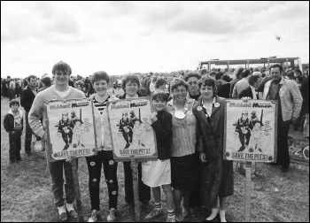 A miners rally in Northumberland, photo D Pearson