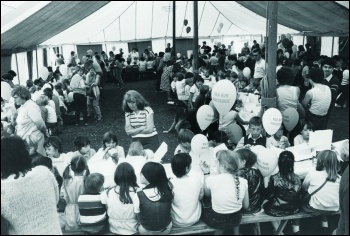 An NUM holiday camp in Blackpool for miners' children, photo John Smith