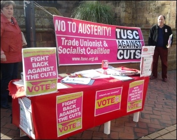 TUSC stall in Derby