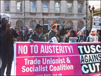 TUSC candidates on the UN anti-racism day demo in London,
