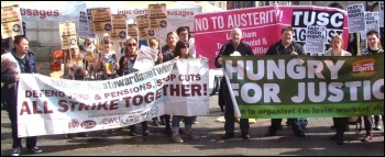 Protesting for fast food workers' rights in London