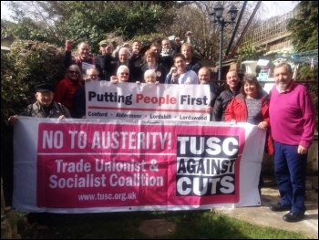 Southampton TUSC campaigners get together for canvassing on 22 March, including councillors