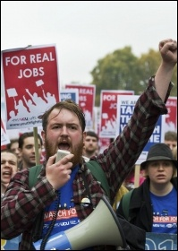 Youth Fight for Jobs - real jobs for all!, photo Paul Mattsson
