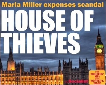 House of thieves, photo by Peter Symonds, design The Socialist