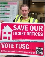 Len Rowlands, RMT picket Whitechapel station & TUSC candidate St Peter's ward, Tower Hamlets