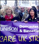 Doncaster Care UK strike, Easter 2014 , photo by A Tice