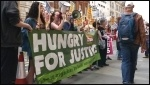 Fast Food protest, London, 15.5.14, photo YFJ