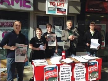 Dave Nellist and other Socialist Party members out campaigning for TUSC in Coventry