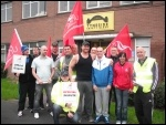 Tyneside Safety Glass workers strike over pay amd conditions, June 2014