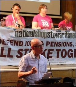 Roger Bannister speaking, NSSN 8th annual conference, 5.7.14, photo Senan