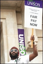 Picketing Hackney Town Hall on 10 July 2014, photo Paul Mattsson