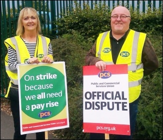 HMRC picket  at Benton Park View, Newcastle upon Tyne, photo Elaine Brunskill