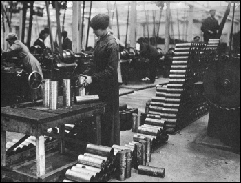 Over 800,000 women were recruited into British munitions factories during World War One, resulting in a huge increase in trade union membership and militancy