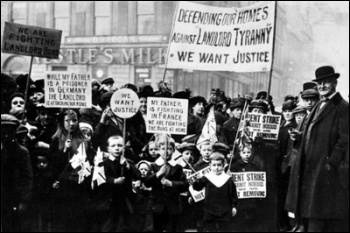 Clydeside 1915 - a massive strike against rent rises was organised by women