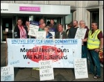 Campaigners lobbying Salford City Council, photo Andrew Carss