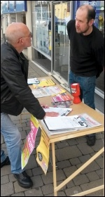 Campaigning against library closures in Huddersfield
