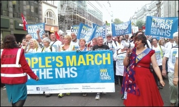 The People's March for the NHS was joined by 5,000 people in London, photo by Bob Severn