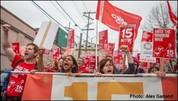 Successful fight to increase the minimum wage in Seattle