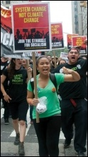 Socialist Alternative members on the People's Climate March in New York, 21 September 2014, photo Socialist Alternative