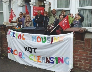 A successful anti-eviction protest in Leytonstone, east London