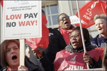 The St Mungo's strike victory shows we can beat low pay, photo Paul Mattsson