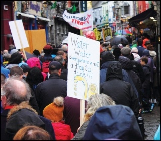 Marching in Galway, 1 November 2014