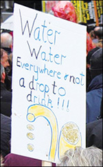 An anti-water tax placard in Galway, 11 November 2014